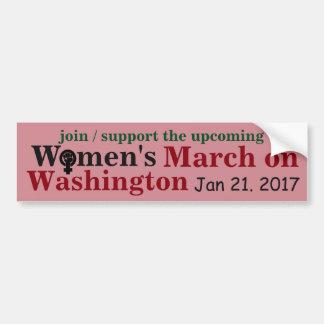 Autocollant De Voiture Mars des femmes sur Washington