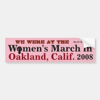 Autocollant De Voiture Mars OAKLAND 2018 des femmes -