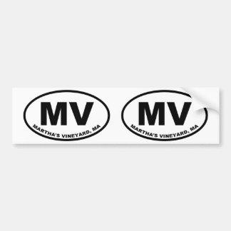 Autocollant De Voiture Martha's Vineyard système mv