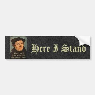 Autocollant De Voiture Martin Luther ici je tiens la citation
