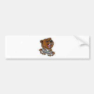 Autocollant De Voiture Mascotte de joueur de Gamer d'ours