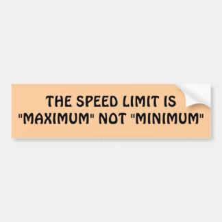 Autocollant De Voiture Maximum ou minimum de limitation de vitesse ?