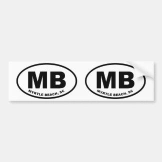 Autocollant De Voiture Mb de Myrtle Beach