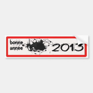 Autocollant De Voiture MEILLEURS VOEUX 2013 BONNE ANNéE BEST WISHES 2013