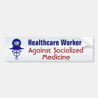 Autocollant De Voiture Membres du personnel soignant contre la médecine