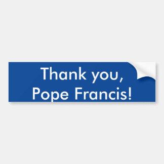 Autocollant De Voiture Merci, pape Francis !