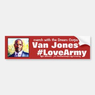 Autocollant De Voiture mercis #LoveArmy aux corps et au Van rêveurs Jones