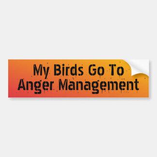 Autocollant De Voiture Mes oiseaux vont irriter l'adhésif pour pare-chocs