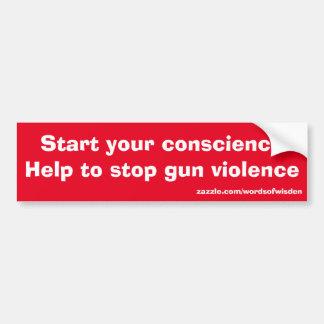 Autocollant De Voiture Message contre la violence armée