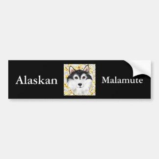 Autocollant De Voiture Million de Malamute d'Alaska du dollar