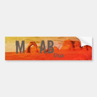 Autocollant De Voiture Moab Utah arque le parc national