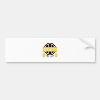 Autocollant De Voiture Modèle de conception de logo de brasserie
