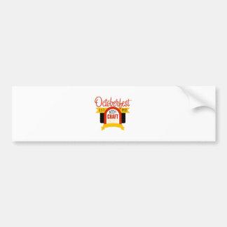 Autocollant De Voiture Modèle de conception de logo d'Oktoberfest
