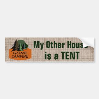 Autocollant De Voiture Mon autre Chambre est un camping drôle de tente