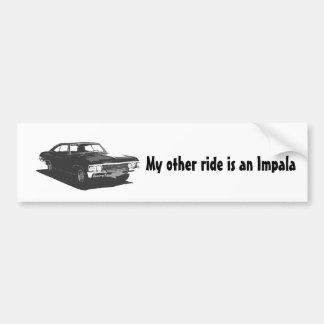 Autocollant De Voiture Mon autre tour est un impala