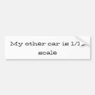 Autocollant De Voiture mon autre voiture est 1/10 échelle