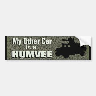 Autocollant De Voiture Mon autre voiture est des militaires drôles de
