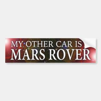 """AUTOCOLLANT DE VOITURE """"MON AUTRE VOITURE EST MARS ROVER """""""