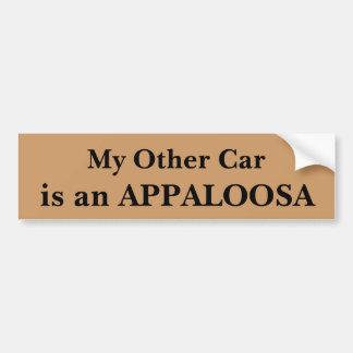 Autocollant De Voiture Mon autre voiture est un Appaloosa