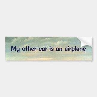 Autocollant De Voiture Mon autre voiture est un avion - adhésif pour