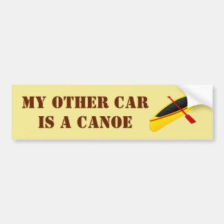Autocollant De Voiture Mon autre voiture est un canoë