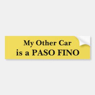 Autocollant De Voiture Mon autre voiture est un Paso Fino