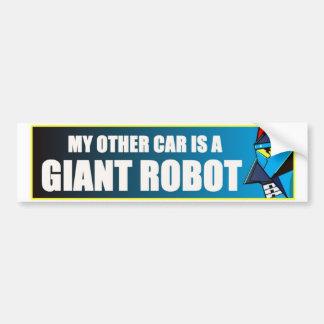 Autocollant De Voiture Mon autre voiture est un robot géant