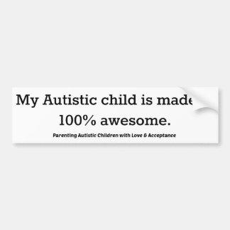 Autocollant De Voiture Mon enfant autiste est fait en 100% impressionnant