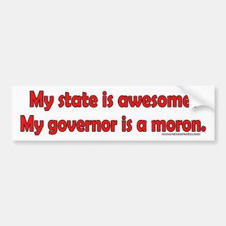 Autocollant De Voiture Mon gouverneur est un idiot