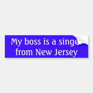 Autocollant De Voiture Mon patron est un chanteur de New Jersey