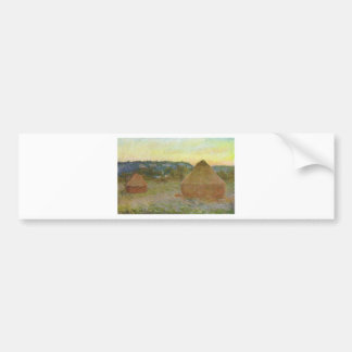 Autocollant De Voiture Monet - peinture classique de Wheatstacks