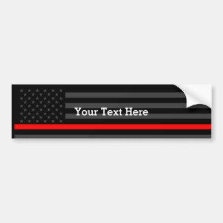 Autocollant De Voiture Montrez la ligne rouge mince drapeau noir
