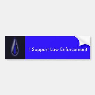 Autocollant De Voiture Montrez votre soutien de police