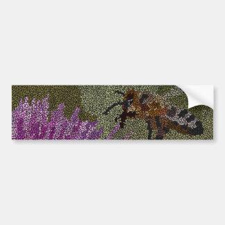 Autocollant De Voiture Mosaïque d'abeille