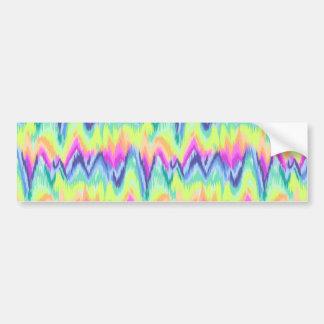 Autocollant De Voiture Motif au néon abstrait coloré chic de Chevron
