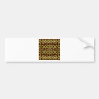 Autocollant De Voiture motif brun et ovale