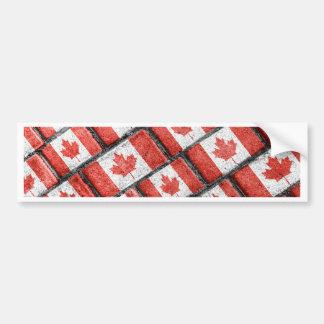 Autocollant De Voiture Motif canadien de motif de drapeau