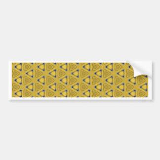 Autocollant De Voiture Motif triangulaire jaune