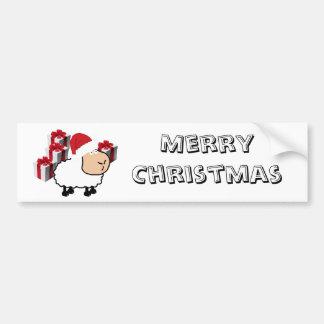 Autocollant De Voiture Moutons mignons lunatiques drôles de Noël