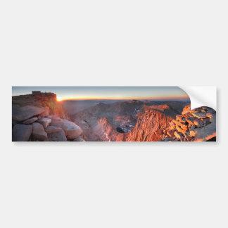Autocollant De Voiture Mt Whitney et lever de soleil de sommets - traînée