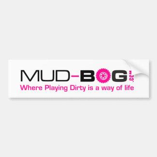 Autocollant De Voiture Mud-Bog.com : Là où le jeu sale est un mode de vie