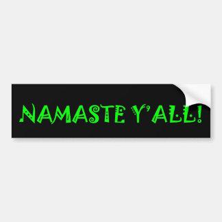 Autocollant De Voiture Namaste vous - adhésif pour pare-chocs de yoga