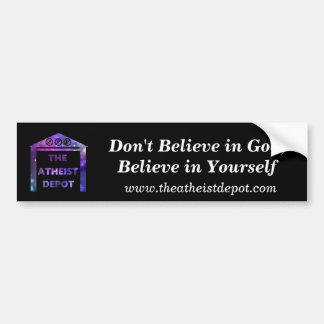 Autocollant De Voiture Ne croyez pas en adhésif pour pare-chocs de Dieu