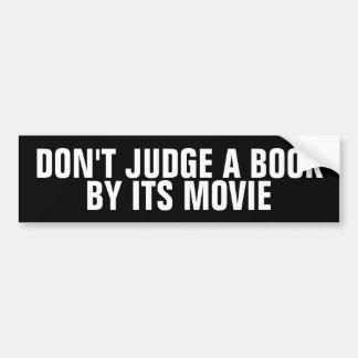 Autocollant De Voiture Ne jugez pas un livre par ses adhésifs pour