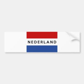 Autocollant De Voiture Néerlandais néerlandais de nom des textes de