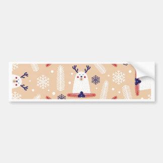 Autocollant De Voiture Noël, vacances, décorations d'arbre, motif