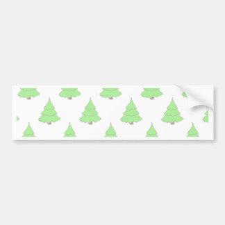 Autocollant De Voiture Noël, vacances, joie, couleurs vertes, décor