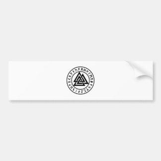 Autocollant De Voiture Noeud païen Valknut d'Odins de symboles