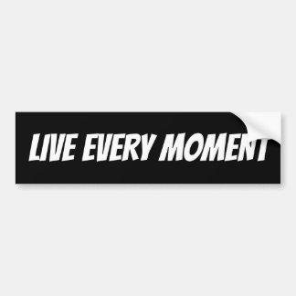 Autocollant De Voiture Noir et blanc vivent chaque moment de motivation
