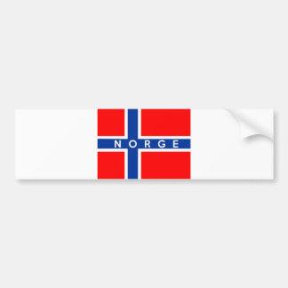 Autocollant De Voiture nom des textes de norge de pays de drapeau de la